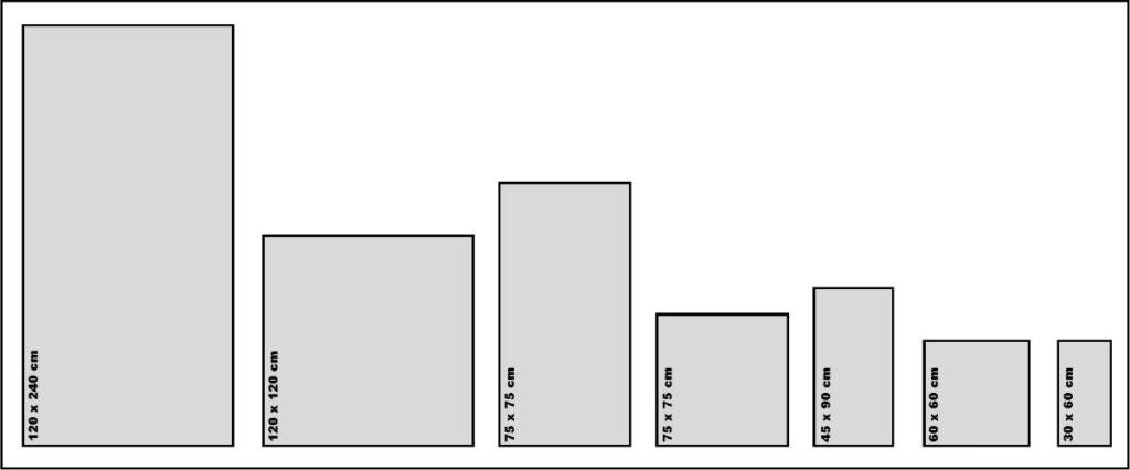 Størrelser serie: One