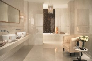Skab en varm stemning med beige marmor