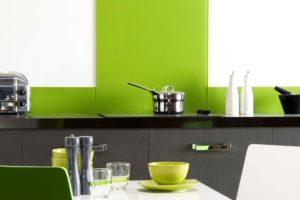 Glasplader til køkken væggen