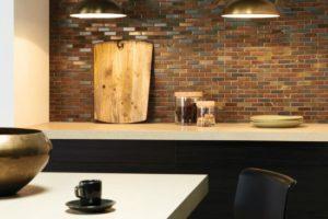 Mosaikfliser til over køkken bordet