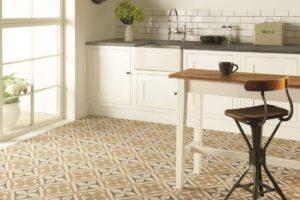 Gulvfliser med mønstre i Engelsk stil til køkken