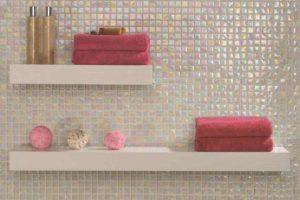 Glas mosaik til badet