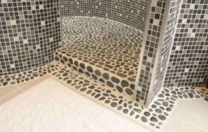 Italienske runde marmor fliser til badeværelse med flot kolorit