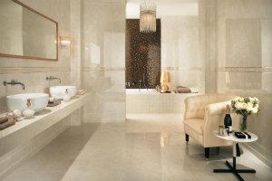 Badeværelsesfliser i lækkert marmor-look