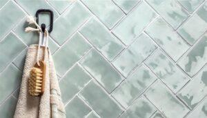 Sildebensmønster i farven mint til badeværelset